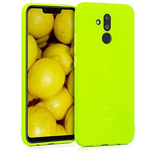 kwmobile Carcasa para Huawei Mate 20 Lite - Funda para móvil en TPU Silicona - Protector Trasero en Amarillo neón
