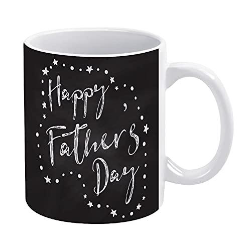CICIDI Taza de café con diseño de pizarra para el día del padre, regalo para hombres o mujeres, taza de cerámica de 15 onzas