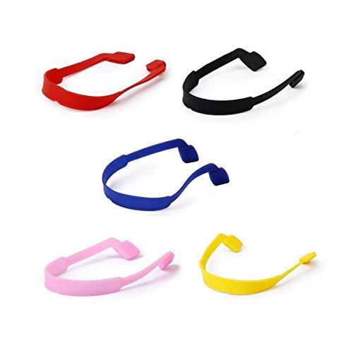 TOOGOO(R) 5pcs Cordas Cadenas de Gafas de sol Soporte de Gafas en Silicona por Ninos - 5 diferentes colores