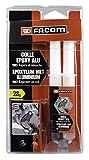Facom 006090 Colle Epoxy Alu pour pièces métalliques-Plastiques-Bois 28g