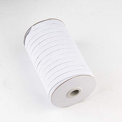 11 Yards White and Black Flat Elastic 3mm to 14mm for Sewing Cra