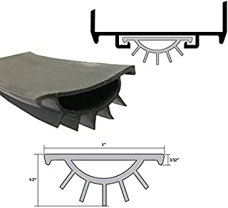 Black Replacement Vinyl Weatherseal for Wrap Around Door Bottom Shoe - 36
