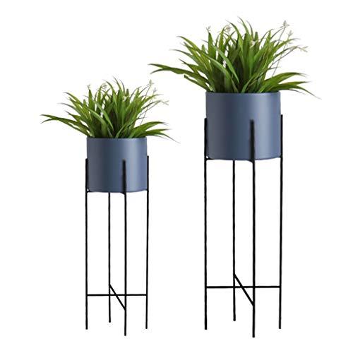 Support pour Plantes Support à Fleurs Support à Fleurs Support à présentoirs Support de Rangement Échelle Balcon Fer Chambre à Coucher Bureau Terrasse Taille 22x71 / 25x78 Cm (LxH) Bleu + Violet