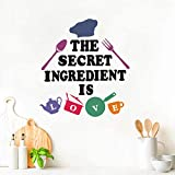 IARTTOP Kitchen Quotes Wall Decal, Simple Cartoon Cooking Tool Stickers, Inventive DIY Kitchenware Spoon Fork Wall Art for Kitchen Dining Room Home Decoration (28 Decals)