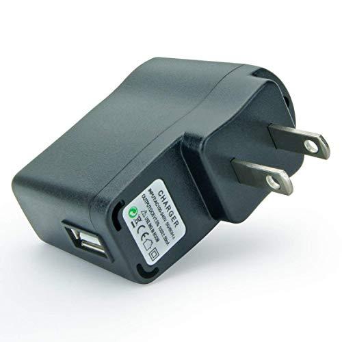 Prunus 5V1A USB DC Adapter con indicador luminoso, perfecto para radio, altavoz con batería de litio recargables (5V/1A),...