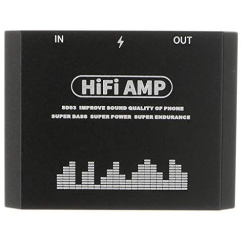 prasku Reproductor de Audio Digital Recargable con Amplificador de Auriculares Estéreo HiFi para