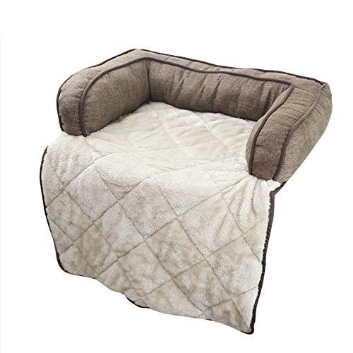 mdtep Hundebett warmes Haustier Katze und Hund Sofa Matratze Liegewinne Sofa Sofa Kissen Multifunktionales großes Hundebett Waschbares Hundebett (Color : Brown)
