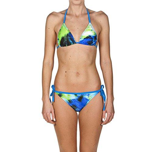 arena Damen Triangel Bikini Palmen (Schnelltrocknend, UV-Schutz UPF 50+, Chlor-/Salzwasserbeständig), Pix Blue Multi (810), 36