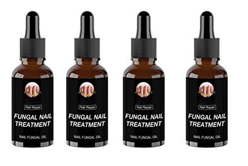 Tratamiento antifúngico para uñas, solución antifúngica, hongo en las uñas de los pies, tratamiento fúngico severo para uñas de los pies extra fuerte, esencia de reparación de uñas (4PCS)