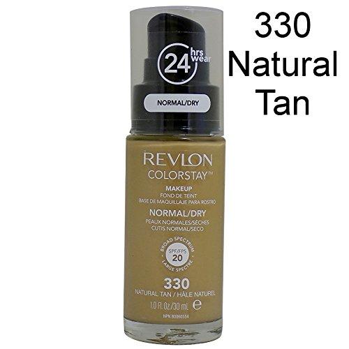 2x Revlon Colorstay Pump 24HR Make Up SPF20 Norm/Dry Skin 30ml - 330 Natural Tan