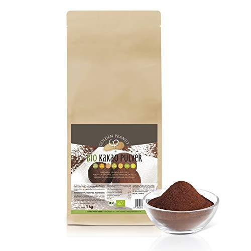 Bio Kakao Pulver 1 kg | Edelsorte Criollo | ohne Zusätze | höchste Reinheit | vegan | Bio zertifiziert DE-ÖKO-003 | Golden Peanut