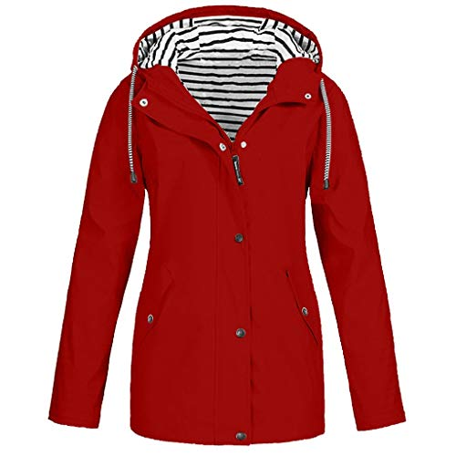 Plot Damen Windbreaker Leicht Einfarbig Slim Fit Übergangsjacke Outwear Coat Winddichte Wasserdicht Trenchcoat Herbst Winter Frauen Parka Jacken Mantel Winterparka