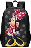 BGKO Mochila 17 Pulgadas, Minnie Large Laptop Bag Viaje Senderismo Mochila para Hombres Mujeres Trabajo Escolar