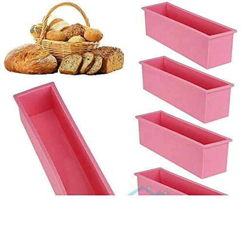 Silicone Rectangle Toast Bread Cake Pastry Baking Non Stick Mould Baking provides Bakeware units Bread pan Baking dish Cake Baking molds