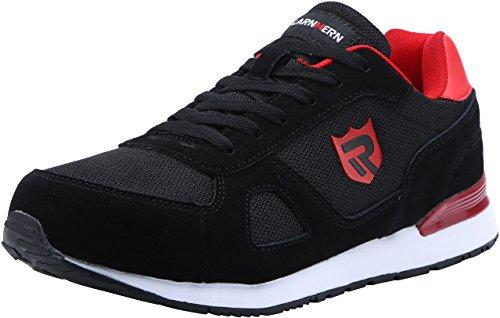 LARNMERN Zapatos de Seguridad Hombre Mujer, S1 SRC Punta de Acero Ligero Zapatillas de Seguridad Transpirable Reflectivo (41 EU, Negro) ⭐
