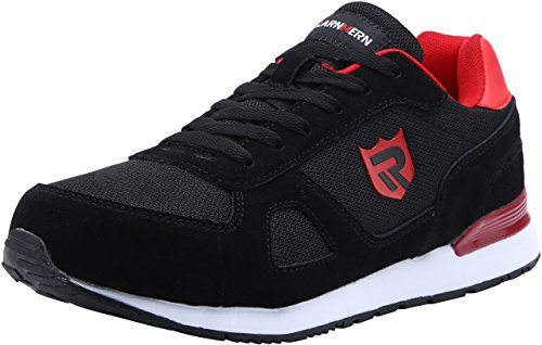 LARNMERN Stahlkappe Sicherheitsschuhe, Herren luftdurchlässige Leichte Anti-Smashing Schuhe Industrie und Handwerk, Schwarz, 41 EU (7 UK)