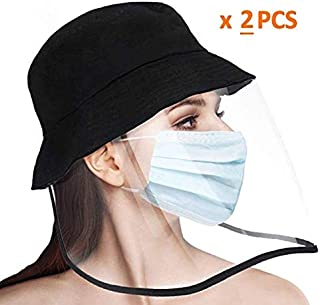 Sombrero protector anti-saliva para ni/ños Cubierta antivaho M/áscara facial completa Escudo transparente Gorra de pescador A prueba de polvo e impermeable para actividades al aire libre-3-8 a/ños,1pcs