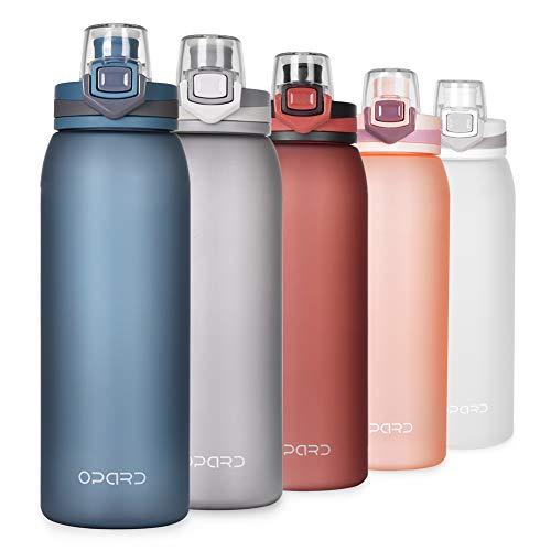 Opard Trinkflasche Sport 900ml-Wasserflasche aus Tritan, BPA-Frei, Auslaufsicher Sportflasche für Kinder, Sport, Fitness, Fahrrad, Fußball, Outdoor