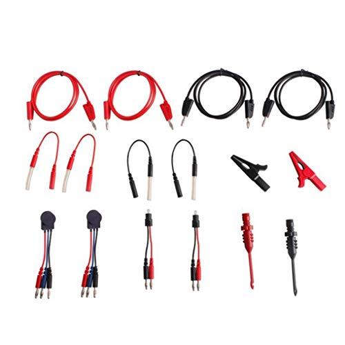 Guangcailun 94pcs Conjunto de Cables de Prueba/Auto Diagnóstico de Fallos Multímetro automotriz Kit de Asistencia osciloscopio Prueba de cableado Bolsa de Almacenamiento