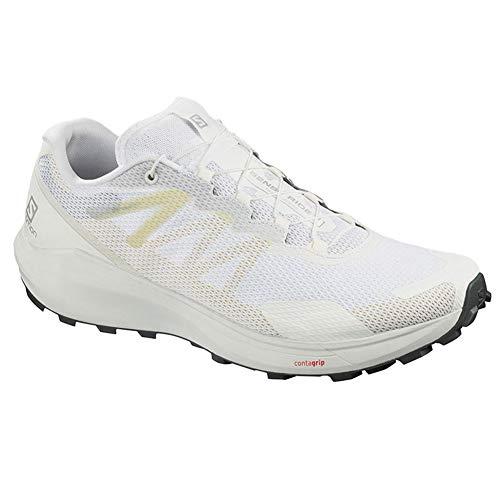 Salomon Sense Ride 3, Zapatillas de Running Hombre, Blanco (White/White/Balsam Green), 46 EU