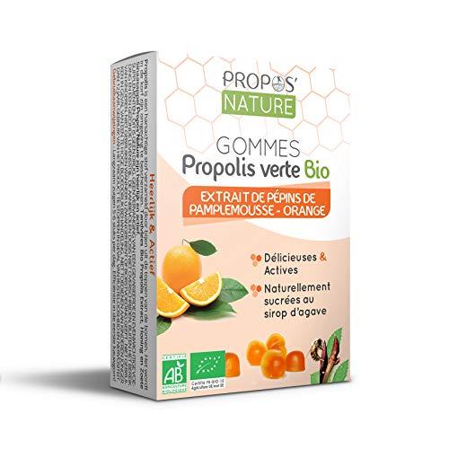 Gommes à la propolis verte Bio EPP - Orange - Certifiées AB - Sans sucre - 45g