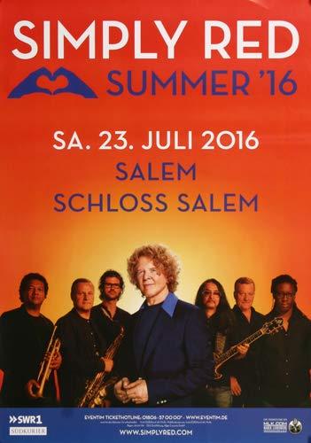 Simply Red - Summer, Salem 2016 » Konzertplakat/Premium Poster | Live Konzert Veranstaltung | DIN A1 «