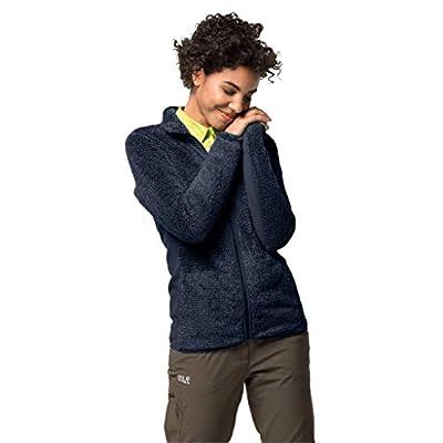 Jack Wolfskin Women's Pine Leaf Jacket, Midnight Blue Stripes, L