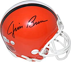 Jim Brown Cleveland Browns Signed Autograph Mini Helmet Steiner Sports Certified