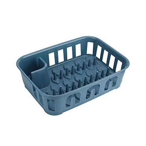 BANGSUN Tableware Rack Dark Blue Draining Dish Plate Storage Accessories For Kitchen