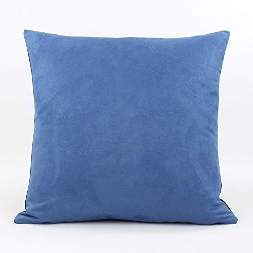 "Urban Suede and Denim Decorative Handmade Pillow Cover, 20x20"", Blue, Chloe & Olive"