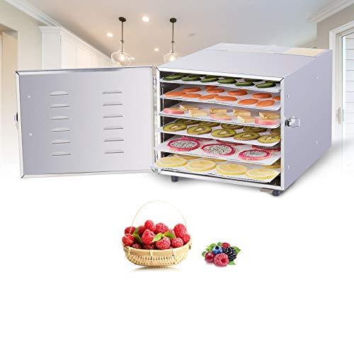 Valens Essiccatore Frutta e Verdura 600W 35L Essiccatore Alimentare Essiccatori per Alimenti in Acciaio Inxo Professionale con 6 Cuscinetti in Silicone