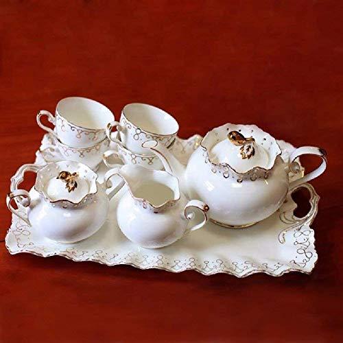 Tcbz Juego de té inglés de la Tarde, Taza de té con Bandeja, Taza de cerámica Creativa de café Phnom Penh
