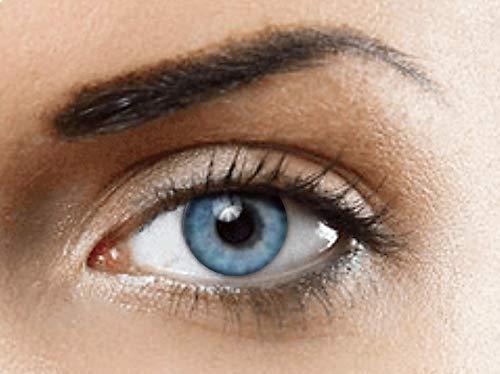 PHANTASY Eyes® HOLLYWOOD Farbige Kontaktlinsen natürliche (OCEAN BLAU) ohne Stärke,1 paar, (2 Stücke) Jahreslinsen + gratis Kontaktlinsenbehälter