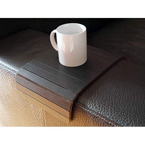 Mini tavolino laterale da bracciolo divano in legno personalizzabile nero Piccolo vassoio colorato Design trasformabile salvaspazio per salotto moderno Piccoli tavolini soggiorno lato poltrona