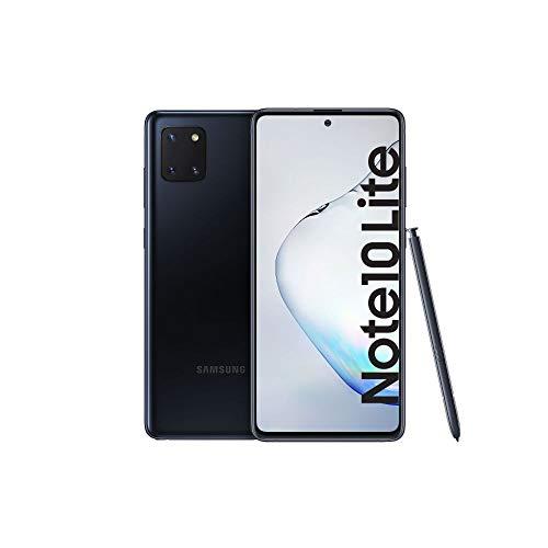 Samsung Galaxy Note10 Lite Android Smartphone ohne Vertrag mit Stift, 4.500 mAh Akku, Schnellldaden, 6,7 Zoll Super AMOLED Plus Display, 128 GB/6 GB RAM, Dual SIM, Handy in schwarz, deutsche Version