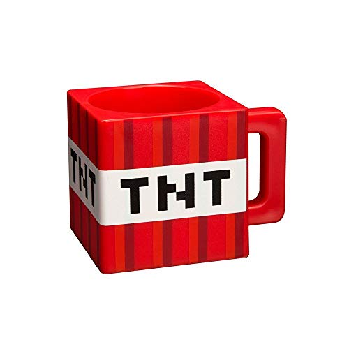 Minecraft 8.89343E+11 Trinkbecher im TNT-Block-Design, 290 ml, Kunststoff, mehrfarbig