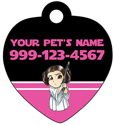 Disney Star Wars Personalized Pet Id Tag for Dogs & Cats (Princess Leia)