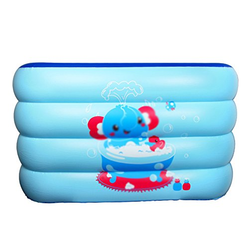 Baby Zwembad Opblaasbare Badkuip Vierkant Dikke Isolatie Lekvrije Hoogte Verstelbare Paddling Zwembad 140 * 105 * 75cm