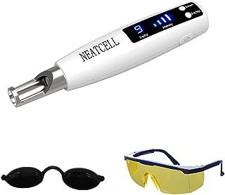 قلم Picosecond چراغ آبی بی سیم - قلم دستی Picosecond مخصوص دستگاه زیبایی کک و مک Tattoo Scar با عینک ایمنی و محافظ چشم
