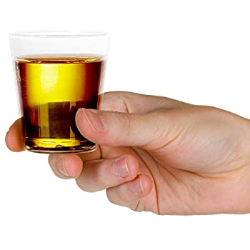 1000 Plastic Shot Glasses - 1.5 Oz Disposable Cups - 1.5 Ounce Shot Glasses - Ideal for Whiskey Wine Tasting Food Sampling and Sauce Dipping at Catered Events Parties and Weddings  Clear