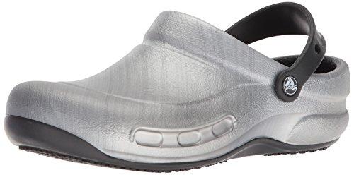 Crocs Bistro Graphic Clog, Unisex Adulto Zueco, Plateado (Metallic Silver), 46-47 EU