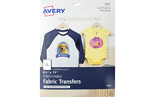 Avery Printable Stretchable Transfer Sheets 5pc