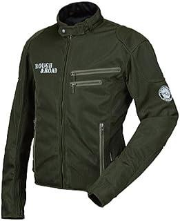 ラフアンドロード(ROUGH&ROAD) バイク用ジャケット ライディングZIPメッシュジャケットEM オリーブ M RR7308