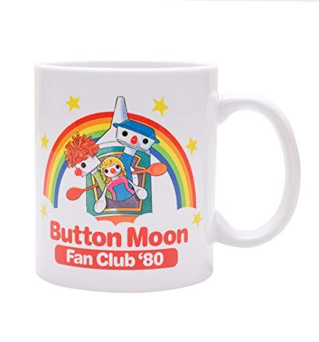 Button Moon Fan Club 1980 Porcelain Mug