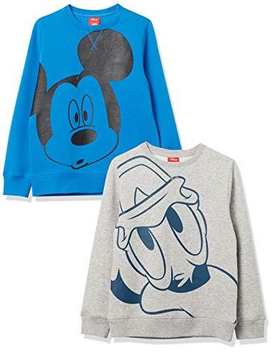 Spotted Zebra Disney Star Wars Marvel Fleece Crew Fashion-Sweatshirts, 2er-Pack Big Mickey, 2 Jahre