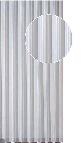 wohnfuehlidee Fertig-Webstore Anita  Effektstreifen  mit Kräuselband  transparent  Farbe Creme-weiß Größe HxB 160x600 cm