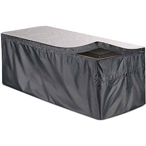 Bag Mate Deck Box Cover  L: 515quot W:27quot H:28quot  Waterproof Quick Open Cover Top with Zipper  Best Fit for: Keter/Lifetime/Suncast/Rubbermaid Deck Box and More  PVCCoated