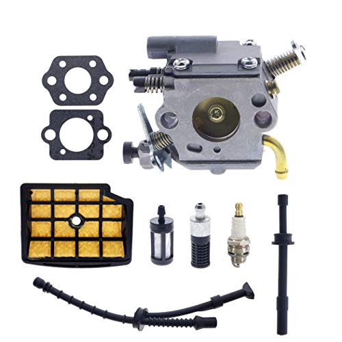 C1Q-S126B Carburetor for Stihl MS200 MS200T 020T MS 200 MS 200T Chainsaw Engines with 1129 350 3600 Fuel Line 1129 120 1602 Air Filter Kit