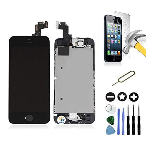 Mobilevie Ecran LCD Retina + Vitre Tactile Tout Assemblé Complet sur châssis pour Iphone 5s Noir + Outils
