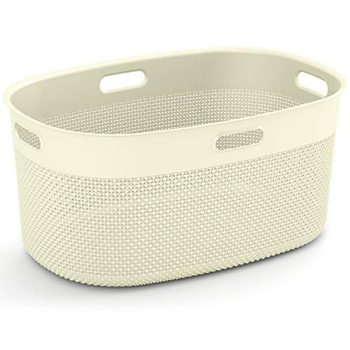 Kis Filo Laundry Basket 45L ovaal ivoor - wasmand, 45 L, ovaal, ivoor, 590 mm, 390 mm, 270 mm